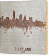 Cleveland Ohio Rust Skyline Wood Print