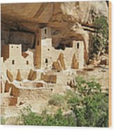 Cliff Palace In Mesa Verde, Colorado Wood Print