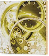 Clock Watches Wood Print