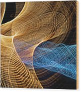 Close Up Of Flowing Light Trails Wood Print