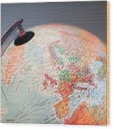 Close-up Of Globe Wood Print