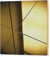 Close-up Spot Lit Reflection In Yellow Wood Print
