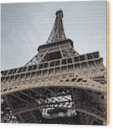 Close Up View Of The Eiffel Tower From Underneath  Wood Print