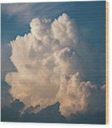 Cloud On Sky Wood Print