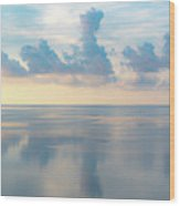 Cloud Reflections On Pamlico Sound Wood Print