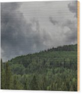 Cloud Topped Aspens Wood Print