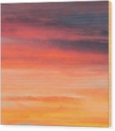 Colorful Clouds In The Sky 1 Wood Print