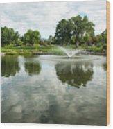 Clouds On Ashley Pond Wood Print
