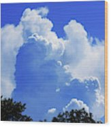 Clouds one Wood Print