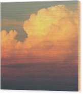 Clouds Over Pleasure Pier Wood Print