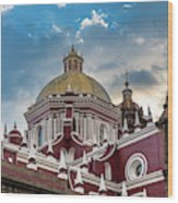 Clouds Over Puebla Cathedral Wood Print