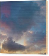 Clouds Spotted With Color Wood Print