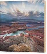 Cloudy Morning at Lake Powell Wood Print