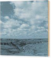 Cloudy Prairie Reverie Wood Print