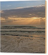 Cloudy Sunrise In The Mediterranean Wood Print