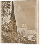 Clustered Spires Series - All Saints Episcopal Church No. 8cs - Frederick Maryland Wood Print