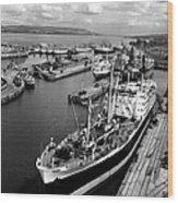 Clydeside Port Wood Print
