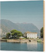 Coast Of Como Wood Print