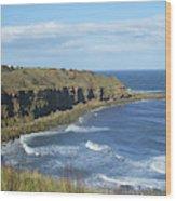 coastal bay at Cove with cliffs Wood Print