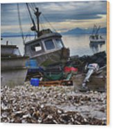 Coastal Fishing Vancouver Island Wood Print