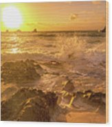 Coastal Sunrise Spectacular  Wood Print