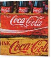 Coca Cola Crates Wood Print