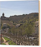 Cochem Castle And Town On Mosel In Germany Wood Print