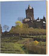 Cochem Castle And Vineyard In Germany Wood Print