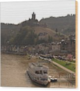Cochem Castle, Town And River Mosel In Germany Wood Print