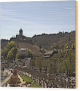 Cochem Main Street And Castle In Springtime In Germany Wood Print