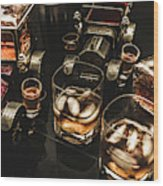 Cognac Cars Wood Print