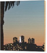 Coit Tower Twilight Wood Print