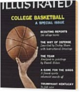 College Basketball Preview Sports Illustrated Cover Wood Print