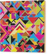 Color Abstract Wood Print