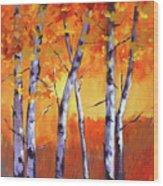 Color Forest Landscape Wood Print
