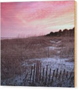 Color Over The Dunes Wood Print