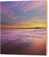 Color Splash At Sunset, Laguna Beach Wood Print