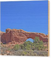 Colorado Arches Rock, Scrub Blue Sky 3397 Wood Print