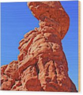 Colorado Arches Spire Scrub Dinosaur Rock? Scrub Blue Sky 3325 Wood Print