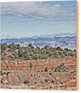 Colorado Blue Sky Red Rocks Clouds Trees 2 10212018 2857 Colorado  Wood Print