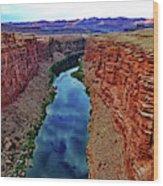 Colorado River From The Navajo Bridge 001 Wood Print