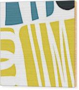 Colorful Bento 1- Art By Linda Woods Wood Print
