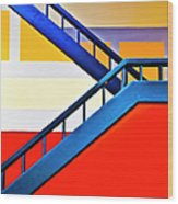 Colorful Climb Wood Print