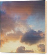 Colorful Clouds Wood Print