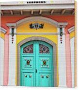 Colorful Door Wood Print