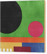 Colorful Geometric Abstract 4- Art By Linda Woods Wood Print