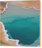 Colorful Geyser In Yellowstone National Wood Print