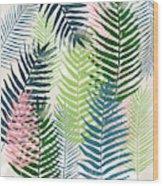 Colorful Palm Leaves 2- Art By Linda Woods Wood Print