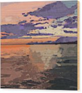 Colorful Sunset Over The Gulf Of Mexico Wood Print
