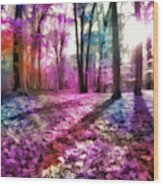 Colorful Trees Xii Wood Print